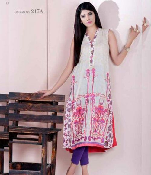Doha embroidered lawn kurtis collection 217_A