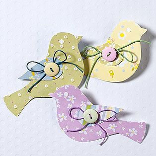 Unos pajaritos muy decorativos de papel  y muy fáciles de hacer