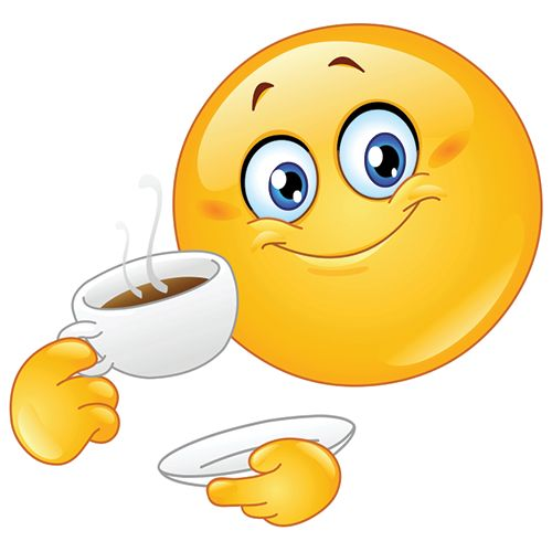 Image result for emoticons laughing coffee in hand
