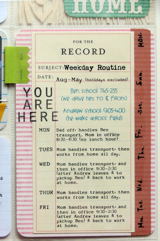 great way to document school year routine 12 Week 3 (closeup 1)