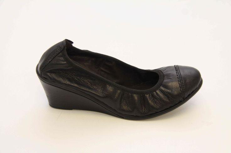 Lumbo black wedge, R750, Tsonga Shoes