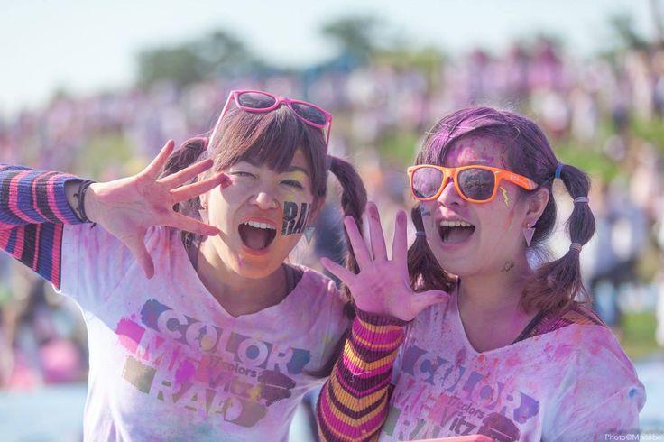 "Color Me Rad Fukuoka 2014  girls say ""hello mixtribe!"" lol"