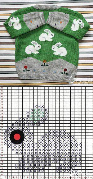 Кофточка с зайчиками. [] #<br/> # #Dalmatiens,<br/> # #Hpv,<br/> # #Posts,<br/> # #Knitting,<br/> # #Tissues<br/>