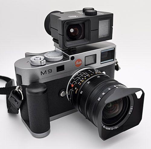 Leica M9 with Tri-Elmar and external rangefinder