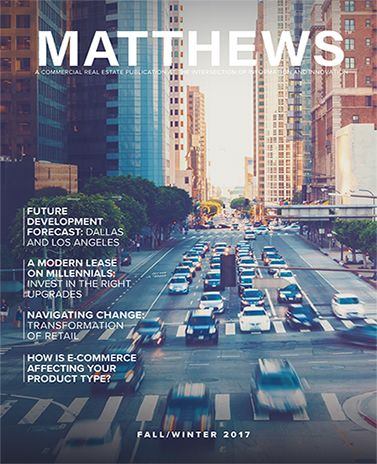 LOS ANGELES, CA/Octobert 04, 2017 (PRWEB) (StlRealEstate.News) --Matthews Real Estate Investment Services™ is pleased to announce the digital release of the company's first three magazine issues designed to provide readers with current trends, fe...