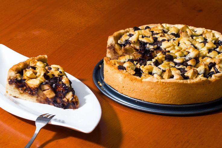 Max konyhája: Omlós csokis-almatorta  #cake, #maxgastro, #alma, #tanuljmegsutni.hu
