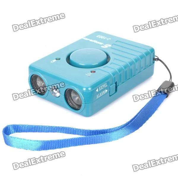 4-in-1 Ultrasonic Dog Repeller + SOS Alarm + Torch + Anti-Theft Electric Bodyguard - Green