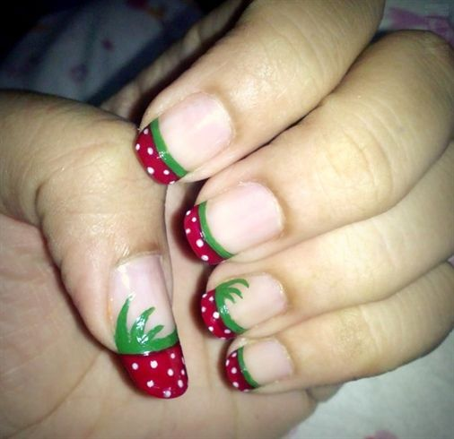 strawberry french tip
