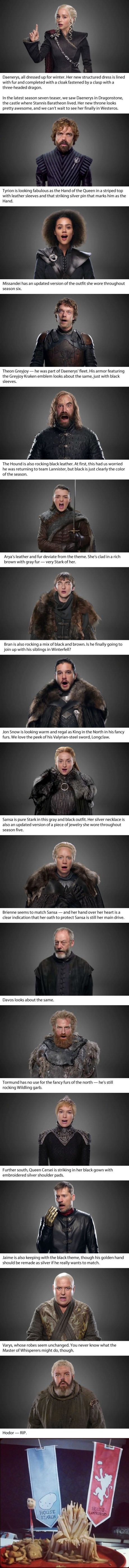 HBO just unveiled a peek at 15 new character looks for 'Game of Thrones' season 7