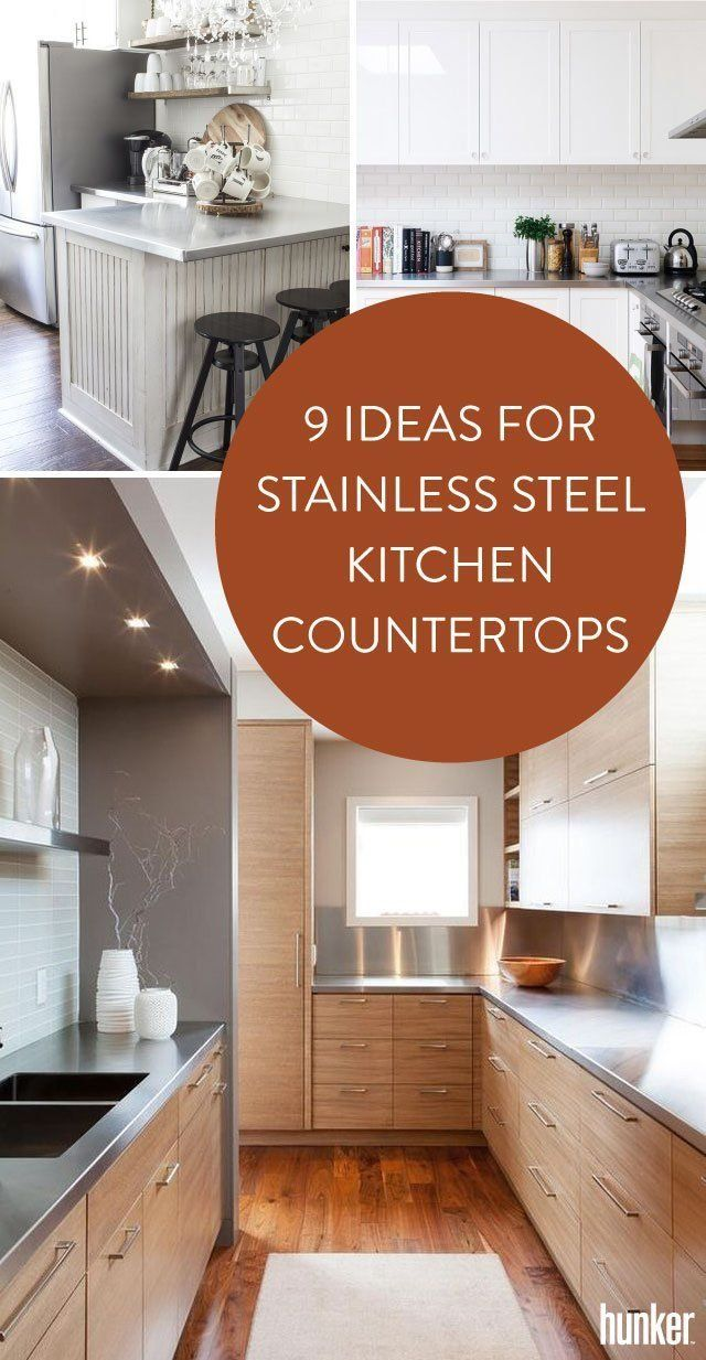 Warning You Ll Want To Reno After Looking At These 9 Ideas For Stainless Steel Kitchen Countertops Kitchen Countertops Replacing Kitchen Countertops Countertops