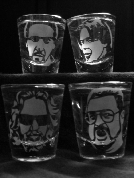 Big Lebowski Drinking Glasses