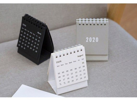 2020 Standup Desk Calendar Monthly Calendar Small Calendar