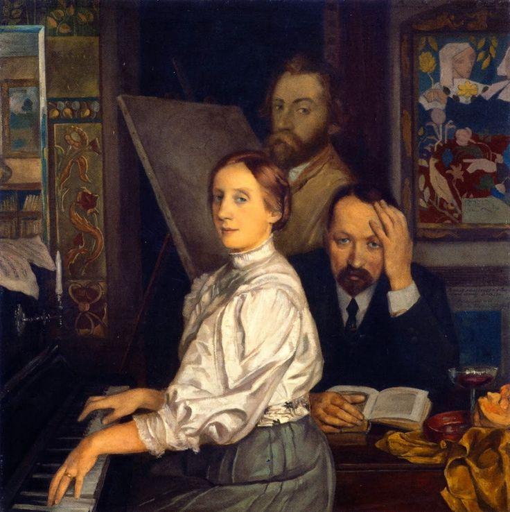 Émile Bernard 1908  Portrait of Andries Bonger, His Wife and Emile Bernard