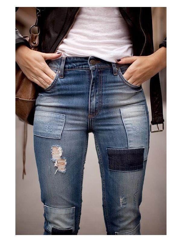 jeans moda 2015 con parches