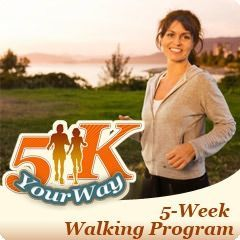 Walk a 5K in 5 Weeks with this easy to follow #walking plan! | via @SparkPeople