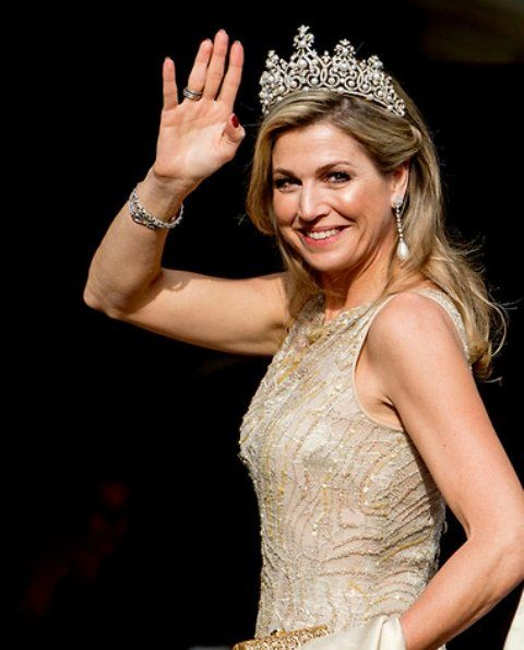 """In the evening of May 23, 2017, King Willem-Alexander and Queen Máxima held a gala dinner for """"Corps Diplomatique"""" at Royal Palace in Amsterdam. The annual gala dinner was attended by Princess Beatrix, Princess Margriet and and Prof.Mr. Pieter van Vollenhoven. This year, dinner is a sign of international business."""