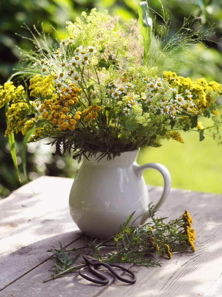 Sommerstrauß Mit Wiesenblumen In Weiß Und Gelb (Heft: Juni 2014) Foto ©  Kramp