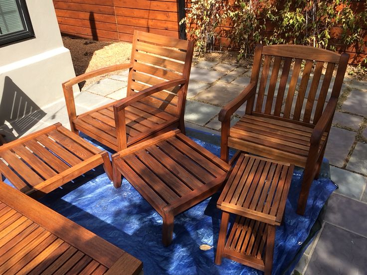 Elegant Teak Furniture Finished With Raw Linseed Oil! Part 26