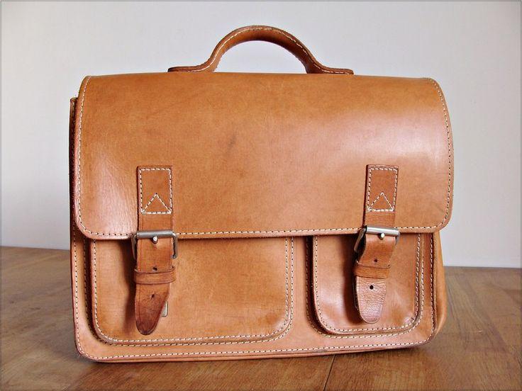 Vintage Schultasche Leder von Anbahner auf DaWanda.com
