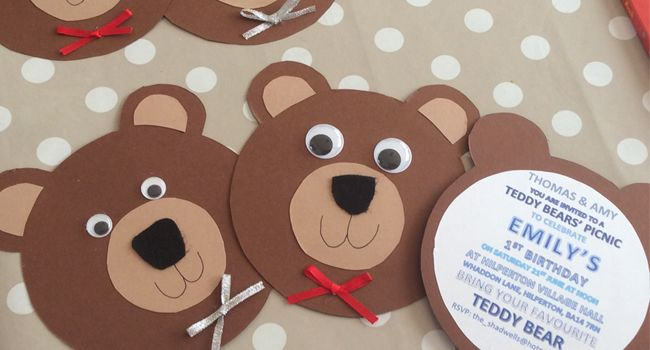 Have scholars make invitations to invite their teddies to the Teddy Bear Picnic.