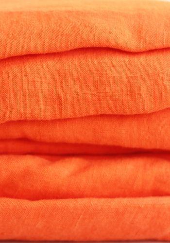 Orange linen duvet cover 220 x 240 cm NOW £187