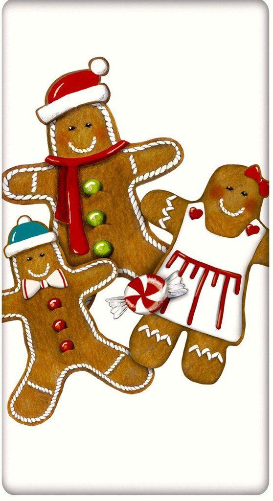 Gingerbread Cookies Christmas 100�0Cotton Flour Sack Dish Towel Tea Towel