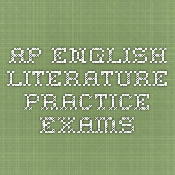 AP English Literature Practice Exams
