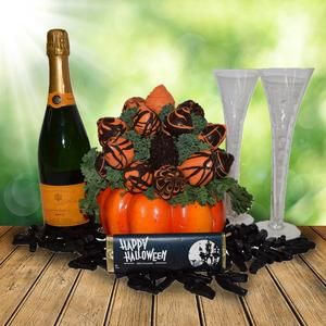 The Pumpkin Patch Chocolate Dipped Strawberries Halloween Gift Basket