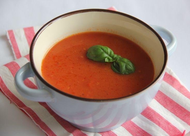 Fotorecept: Paradajková polievka so zázvorom