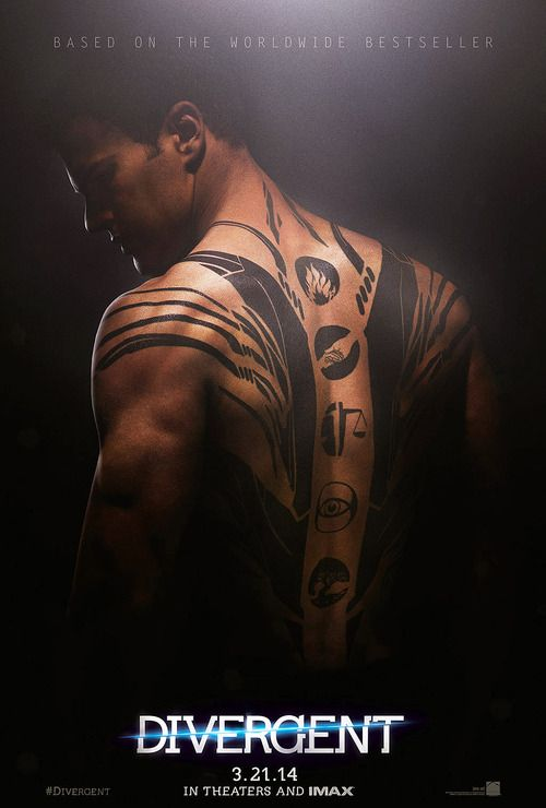 Divergent movie poster! The tattoos!!!!!!!!!! not sure if i'm excited about the movie or not...@Michelle Flynn Flynn Flynn Portillo