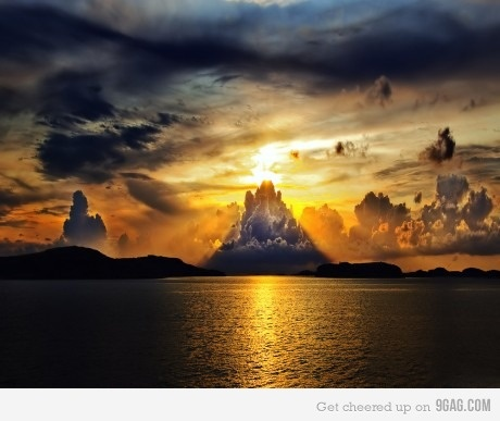 Sunset looking like Sauron's eye.