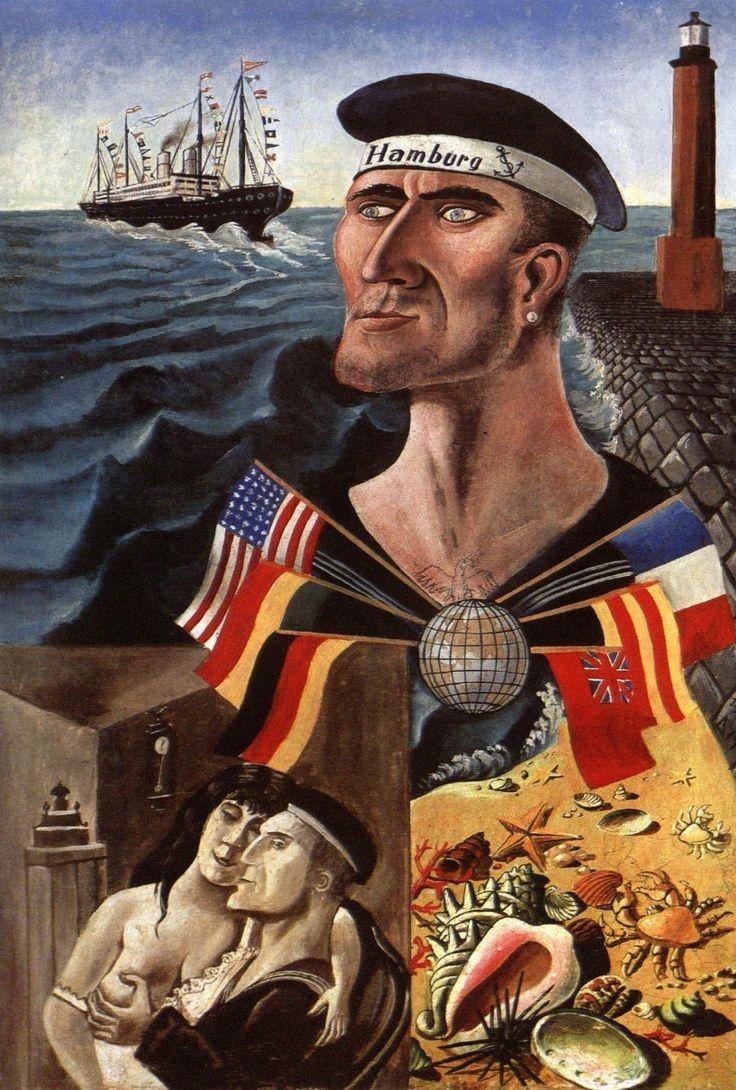 Abschied Von Hamburg Farewell To Hamburg 1921 By Otto Dix 1891 1969 Personligheder