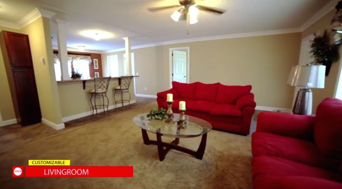 The model 1 is 3 bed 2 bath modular home that features for Manufactured homes with 2 master suites