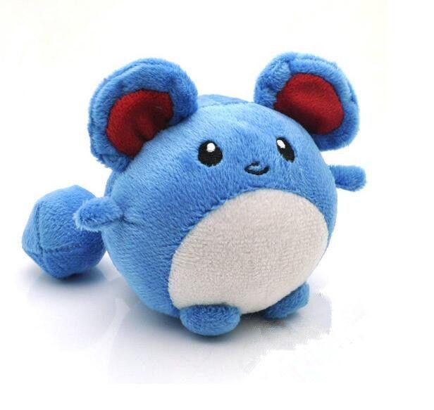 "Cute Pokemon Marill Plush Soft Toy 4/"" Game Figure Stuffed Animal Doll Gifts"