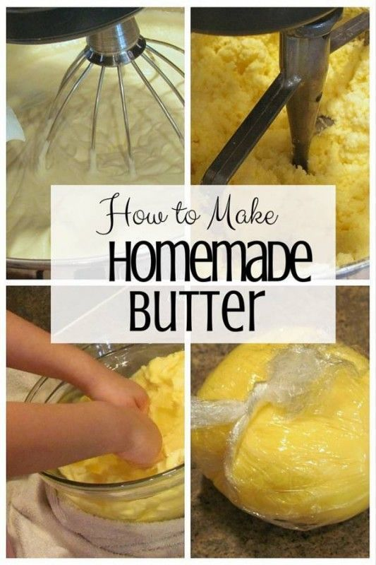 Create your own butter for everyday use. Homemade butter is more delicious than the ones you find in stores.