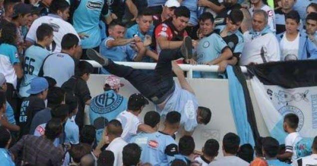 Σοκ στην Αργεντινή: Πέταξαν οπαδό στο κενό! (vid)