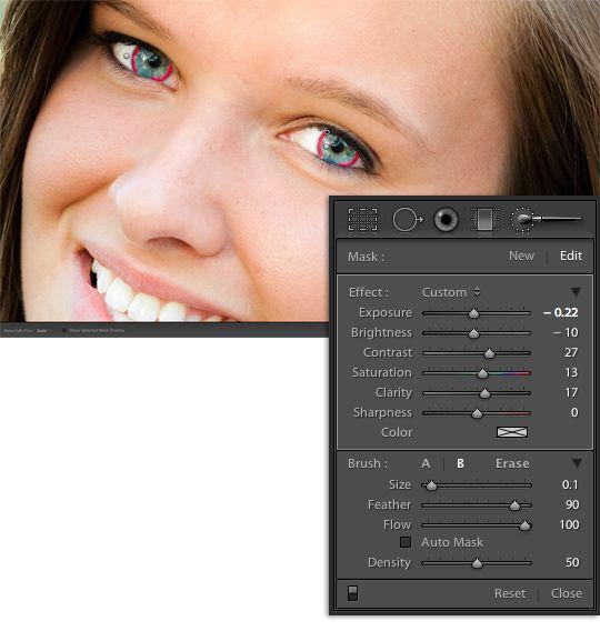 Editing eyes in lightroom: Eye Sparkle, Editing Eye, Eye Pop