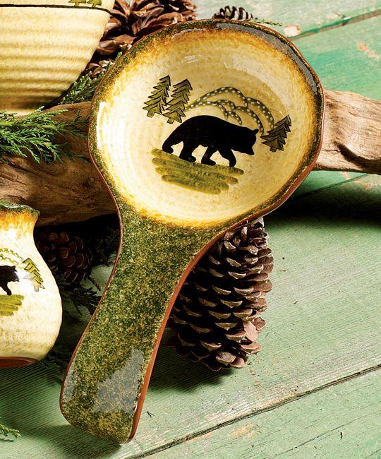 Black Bear Forest Spoon Rest