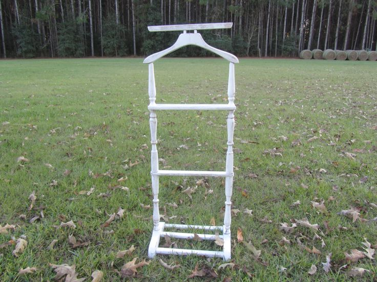 Shabby chic decor, white stand,Valet Stand, Butler stand,change holder,distressed,clothes hanger, Suit Stand,french country,farmhouse, by KarensChicNShabby on Etsy