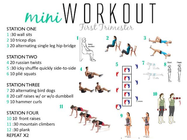 A quick at home workout to do during your first trimester!