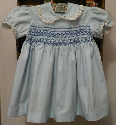 Sweet vintage smocked baby dress
