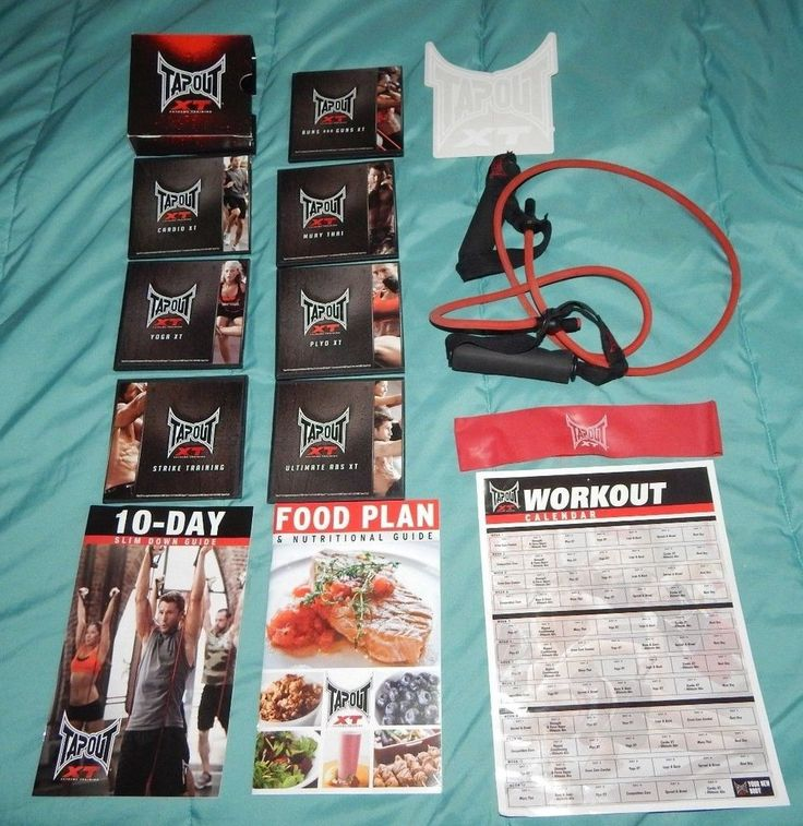 Tapout XT Extreme Exercise - 12 DVD'S + 1 Bonus Strike Training DVD #TAPOUT