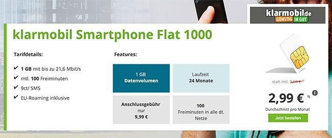 Vodafone Netz 1gb Handyvertrag Mit 100 Freiminuten Fur 4 95 Handyvertrag Smartphone Und Netz