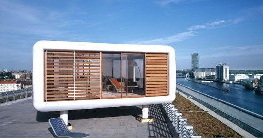 cool ass pre-fab rooftop house