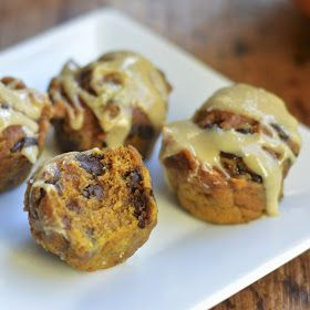 ... Pumpkin Chocolate Chip Muffins with Salted Caramel Cream Cheese Glaze