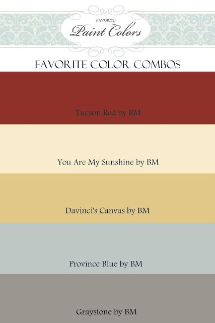 Color Combinations for Tucson Red   Favorite Paint Colors Blog