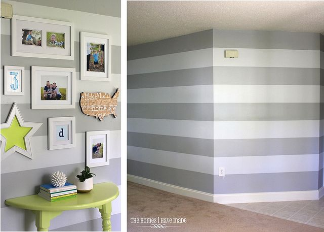 Too many stripes studios gray and accent walls for Accent stripe wall