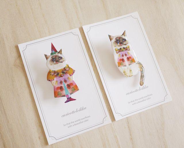 砂糖菓子のネコ/Brooch