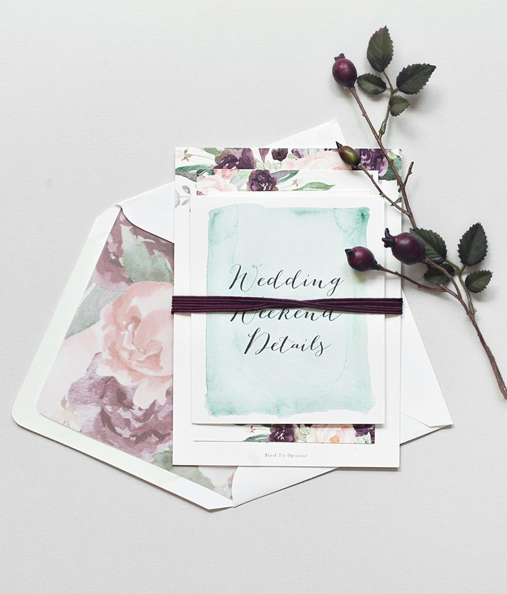 custom wedding invitations new york city%0A New York City Inspired Floral Watercolor Wedding Invitations