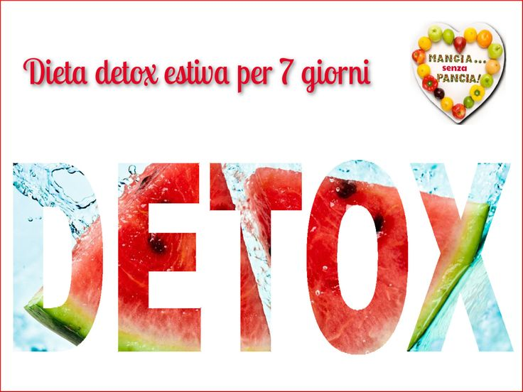Il menu settimanale per seguire una dieta detox basandosi sul sistema a punti Weight Watchers Propoints. Ricette leggere per il periodo primavera/estate